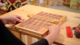 「織り機で織ってみましょう」織り機イネス 説明動画
