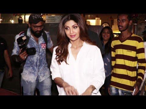 Shilpa Shetty in Sexy White Shirt with Black PVC leggings thumbnail