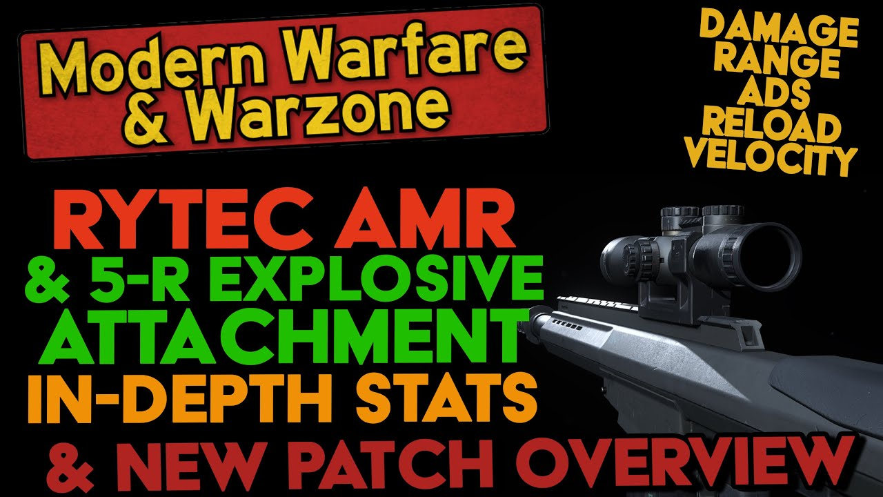 Weapon Stats Guide - Rytec AMR & 5-R Mags (Damage, Range, Velocity, Movement, ADS) - WARZONE & MW