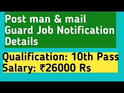 Post man And mail Guard Job Notification 2018 Details in Telugu || Postal Job Details