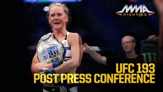 UFC 193 Post-Fight Press Conference