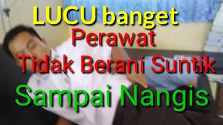 Download Video LUCU !!!!  PERAWAT TAKUT DI SUNTIK _ SAMPAI MENANGIS (NURSE CRYING IN INJECTION) MP3 3GP MP4