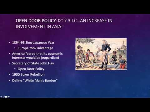 APUSH: Period 7 1890-1945 Foreign Policy and the Presidency