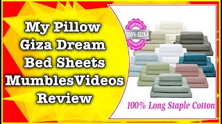my pillow giza dream sheets review with score mumblesvideos product review