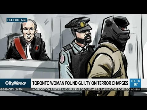 Toronto woman found guilty on terror charges