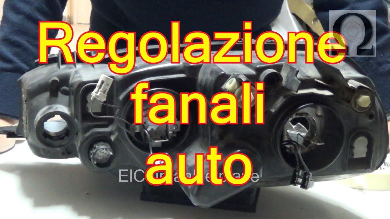 Tutorial regolazione fari auto ( esempio su fiat punto mk2 188) - YouTube