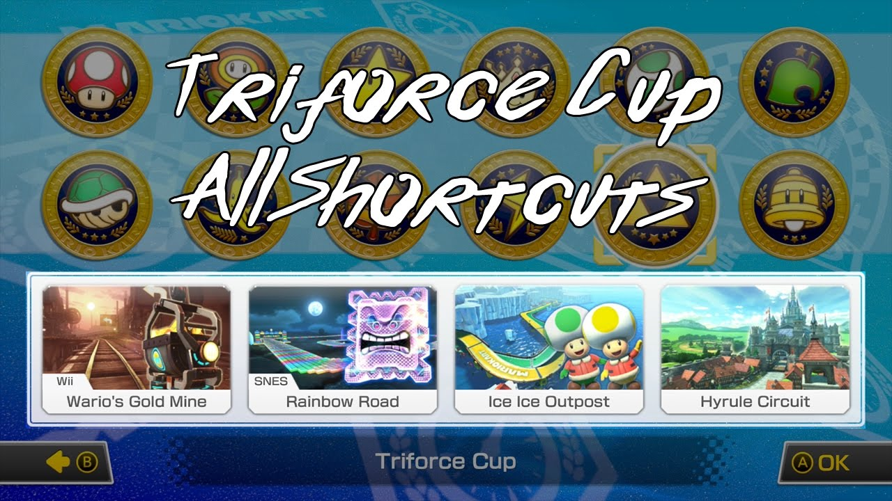Mario Kart 8 Deluxe Triforce Cup All Shortcuts Youtube