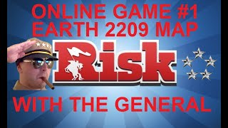 Risk Online Game #1 - Earth 2209 Map - Commentary With The General HD(Series 6)