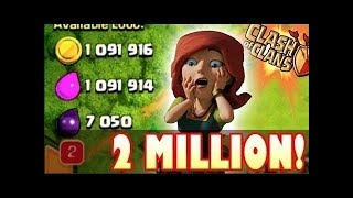 How To Gat 2 Million Loot Plus In Clash of Clans (2018)