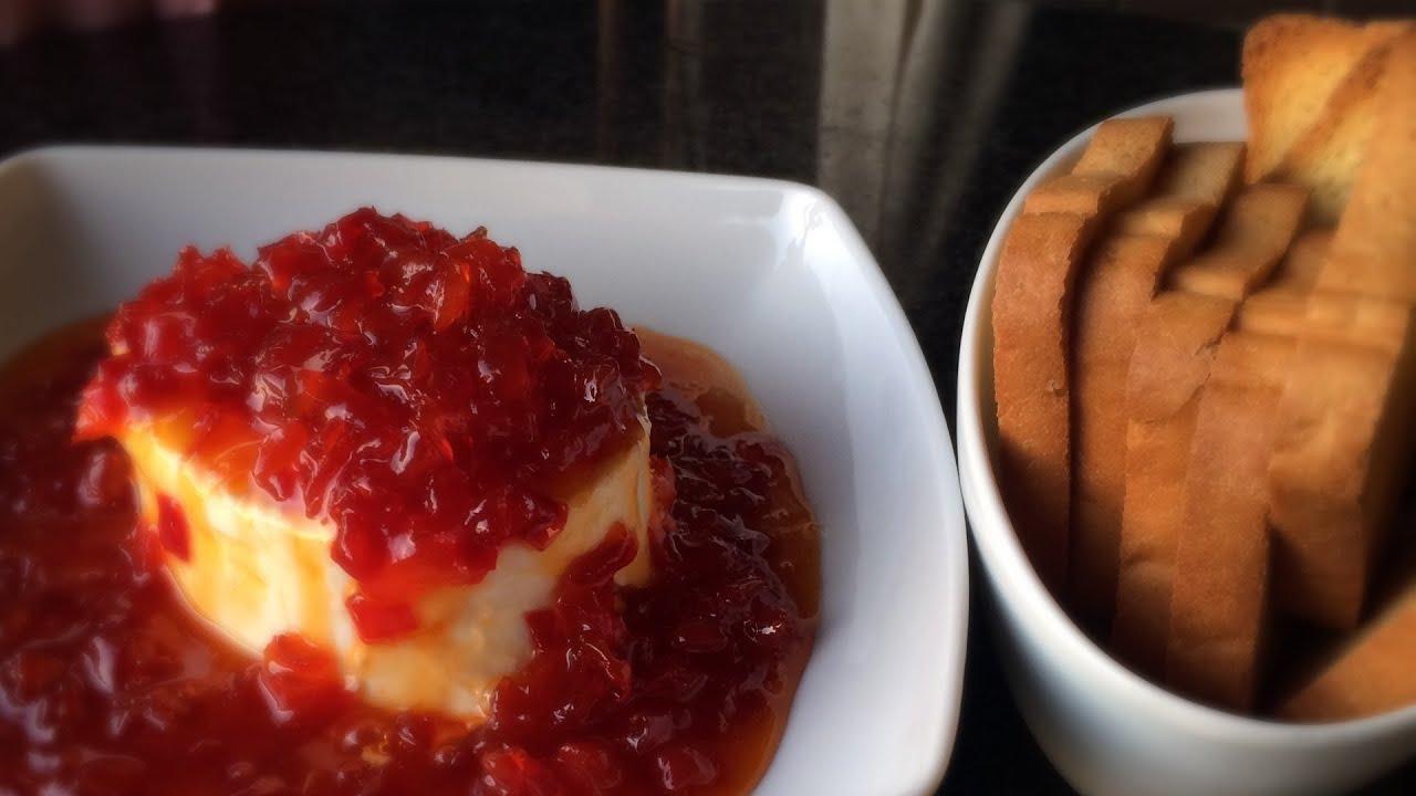 La mejor receta de queso crema con mermelada de pimiento - Como hacer mermelada de pimiento ...