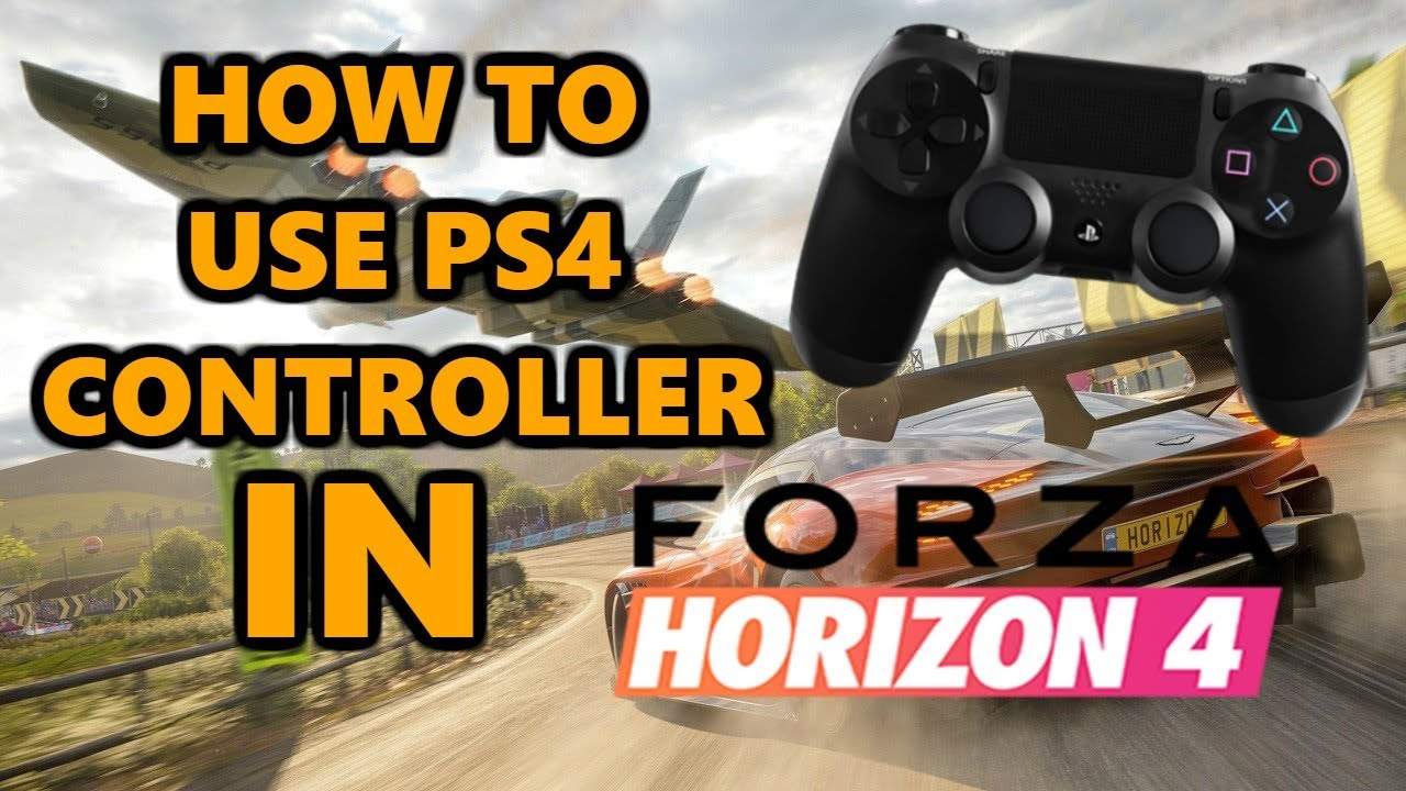 HOW TO PLAY FORZA HORIZON 4 WITH PS4 CONTROLLER [WORKING]