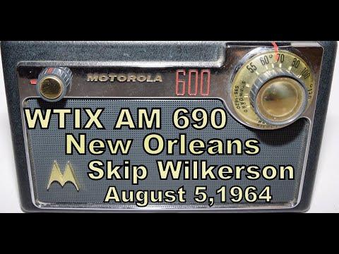 WTIX 690 AM Radio, New Orleans, Skip Wilkerson Aircheck 8-5-64