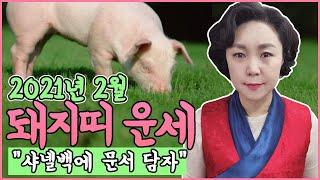 [보리암]2021년 신축년 돼지띠 2월 운세 (27세,39세,51세,63세,75세 운세) 돼지띠 2월 총운세