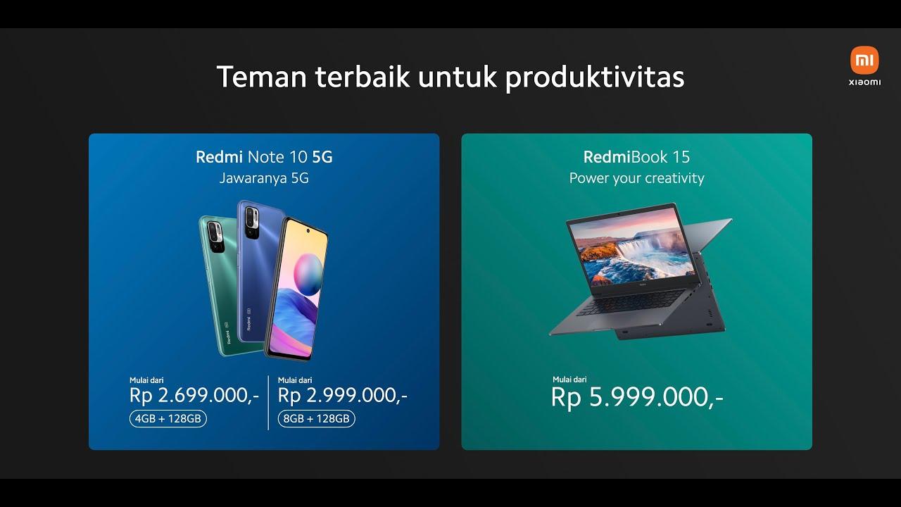 Info Penting Peluncuran Redmi Note 10 5G dan Redmi Book 15