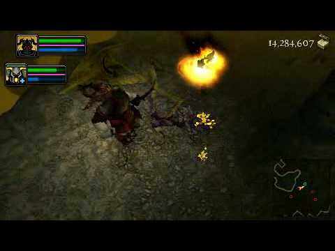 [PSP] Dungeon Siege: Throne of agony (gameplay)