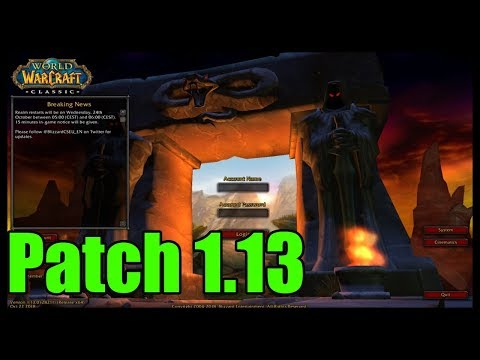"Patch 1.13 ""confirmed"" via data mining! [Classic World of Warcraft]"