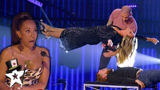 Download Illusionist Conjures UNBELIEVABLE Stunt with Heidi Klum on AGT Champions   Magicians Got Talent Mp3 and Videos