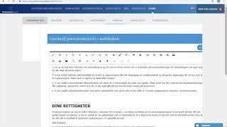 Publisering av personvernerklæringer for avdelinger/seksjon i Sureway