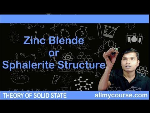 39 Zinc Blende or Sphalerite Structure