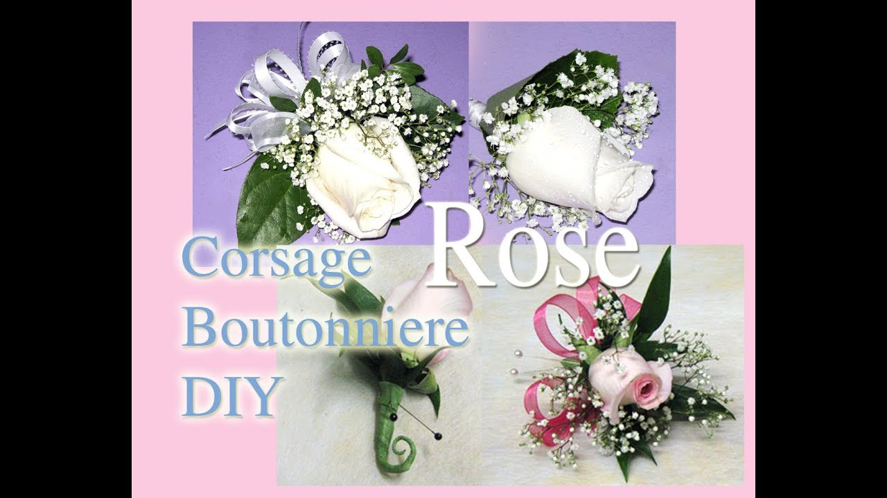 How To Make Easy Rose Boutonniere Corsage Youtube