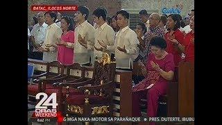 Bisperas ng ika-100 kaarawan ni ex-Pres. Marcos, dinaluhan ng kanyang kaanak at Marcos loyalists