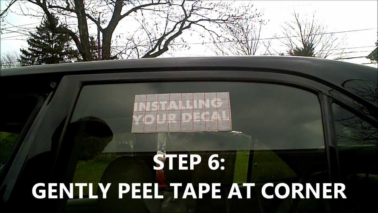 Steps On How To Install Your Vinyl Decal On Car Window JDM YouTube - Vinyl decals car window
