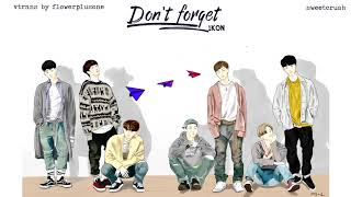 [VIETSUB]iKON - Don't Forget (잊지마요)