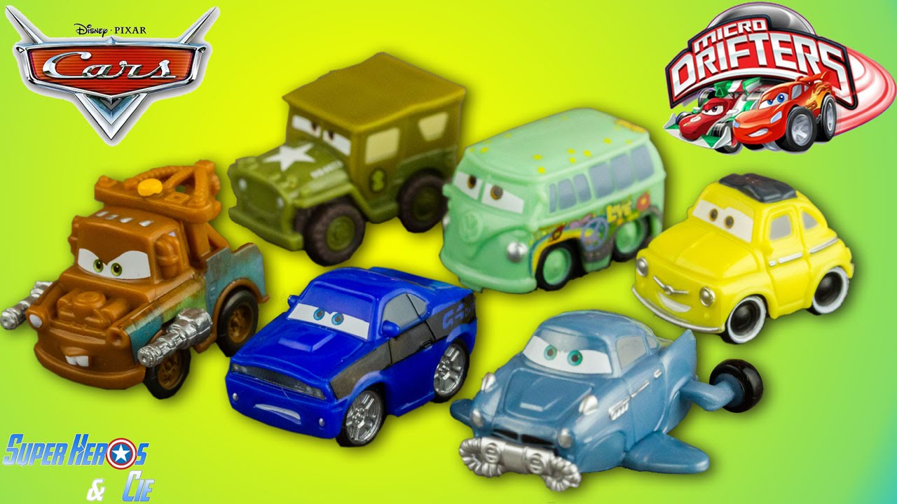 Disney cars micro drifters 6 voitures cars 2 radiator springs fran ais 4k super h ros les - Nom voitures cars 2 ...