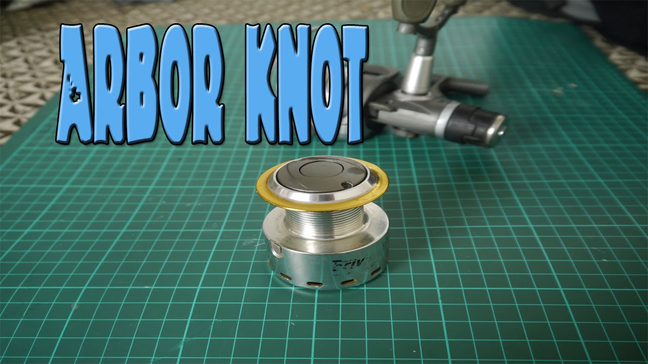 How to tie a fishing line to reel spool youtube for Tying fishing line to reel