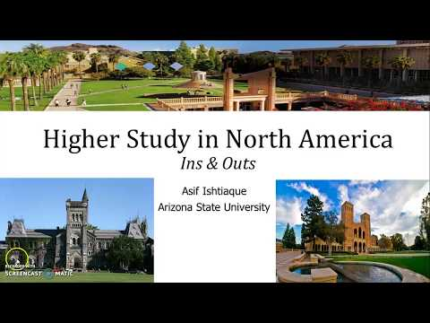 Higher Study in North America for Geography & Environment (in Bangla)