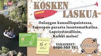 Basecamp Oulangan mainos koillismaan osuuskaupan TV-näytöissä