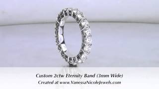 Eternity Band - 2ctw Eternity Wedding Ring - Vanessa Nicole Jewels
