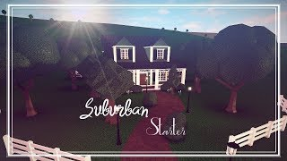 ROBLOX: Bloxburg | Cozy Suburban Starter. Speed build. 91K