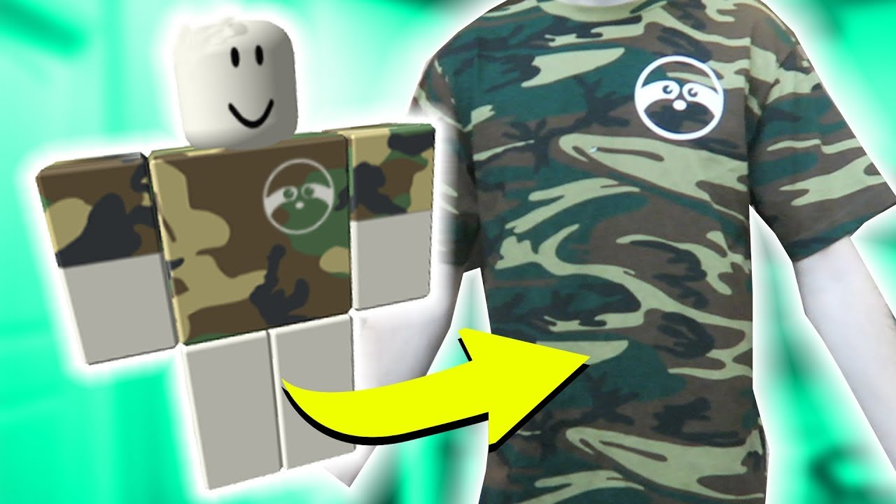 How To Turn A Roblox Shirt Into Real Life Youtube