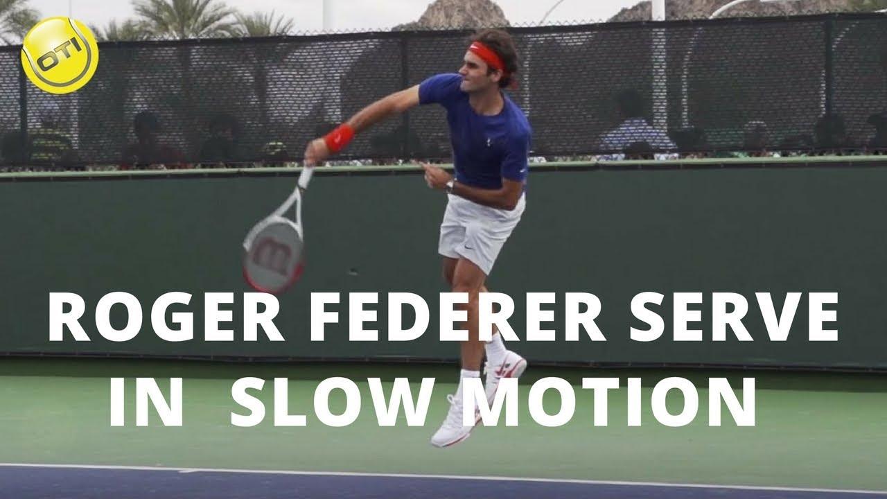 Roger Federer Serve In Slow Motion