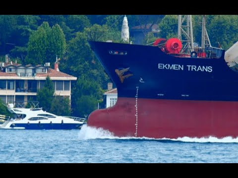 General Cargo Ship EKMEN TRANS Passed Bosphorus