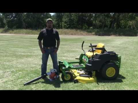 John Deere EZtrak Engine and Deck Cleaning