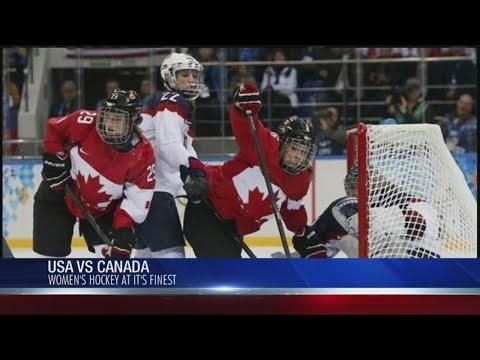 USA vs Canada Women's Hockey Rivalry