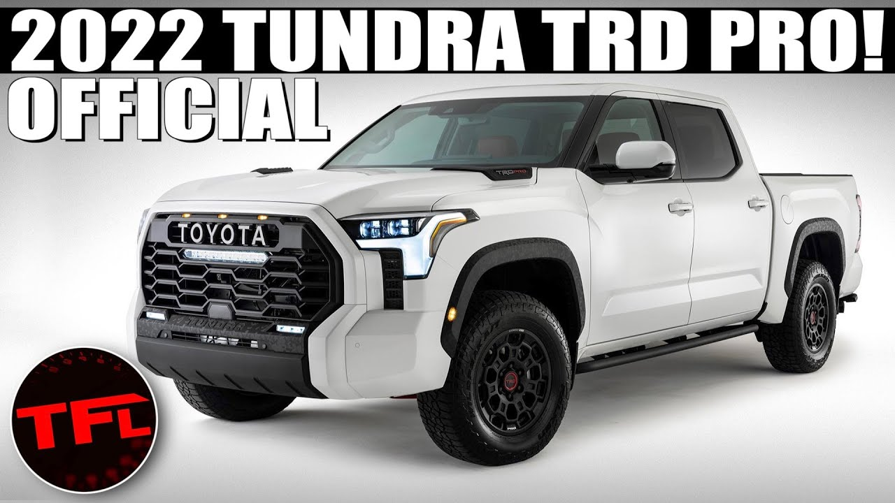 2022 Toyota Tundra TRD Pro Leaked Now Official— Here's What It Looks Like From Grille to Tailgate!