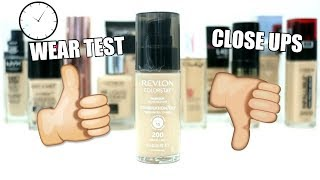 Revlon Colorstay Foundation || Wear Test & Review || Best Drugstore Foundation Series