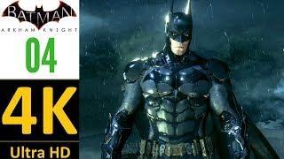 [4K]:Batman Arkham Knight Gameplay Part 4(Hard/No Damage/No Upgrades)-Arkham Knight(No Commentary)