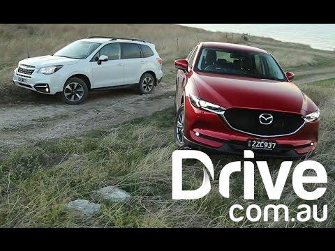 Mazda CX-5 Diesel V Subaru Forester Off Road Comparison | Drive.com.au