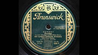 Sunday - Abe Lymans California Orchestra (1926) YouTube Videos
