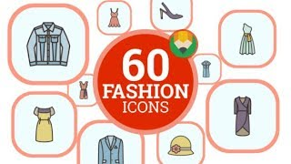Bag Shirt Shoe Fashion Shopping Animation - Flat Icons and Elements | After Effects template