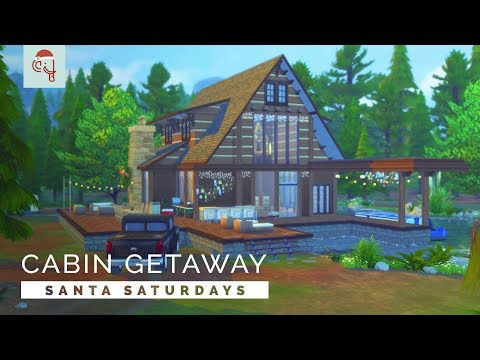 Sims 4  |  Speedbuild  |  Santa Saturdays 🎅 - Cabin Getaway