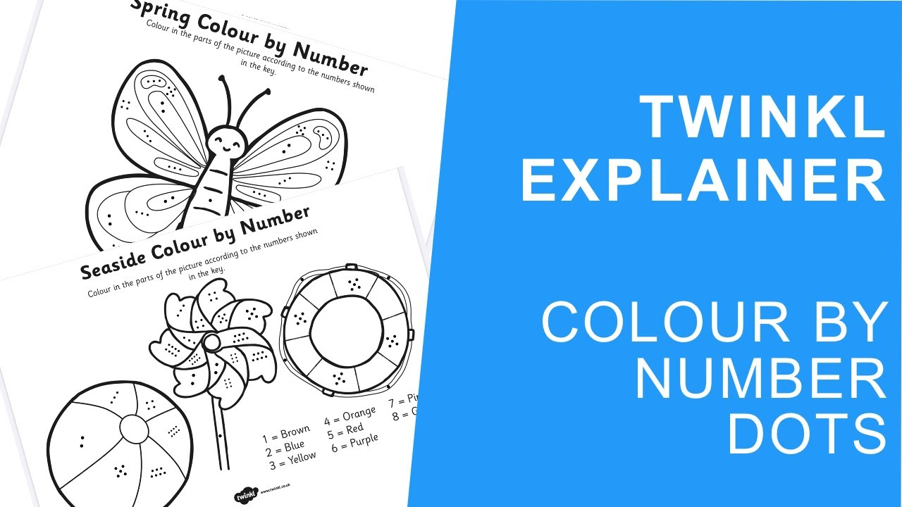Space Colour By Numbers Dots teacher made