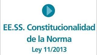 EESS. La constitucionalidad de la Norma
