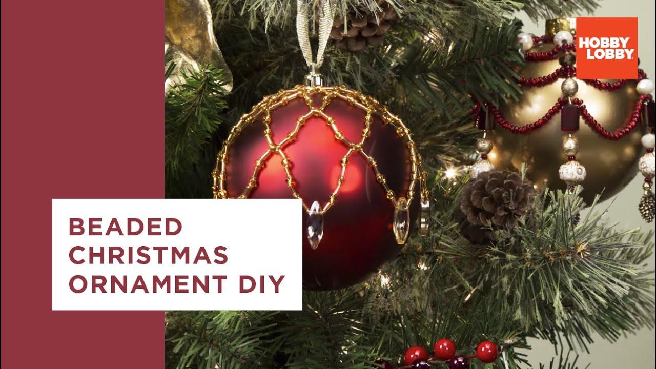 Beaded Christmas Ornament Beaded Christmas Ornament