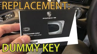 Porsche 991 Replacement Dummy Key (How to Remove)