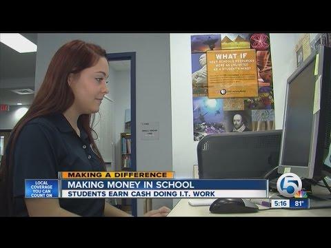Making money in school: students earn cash doing IT work